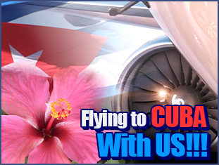 Fly to Cuba with us